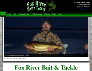 Fox River Bait and Tackle home page