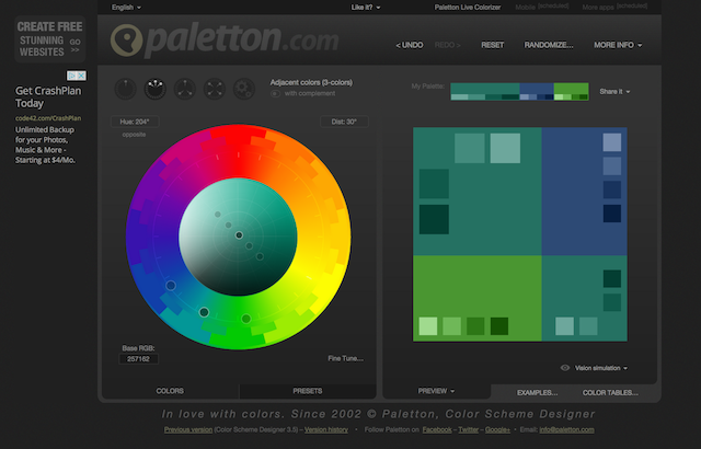 Paletton: The Best Place to Choose Website Colors