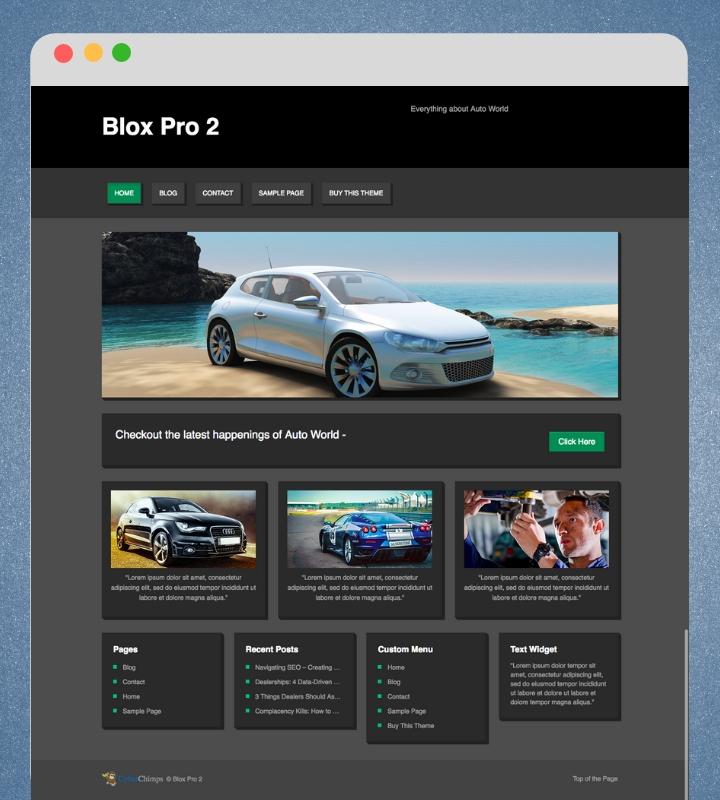 Blox Pro 2 Single Page Business WordPress Theme