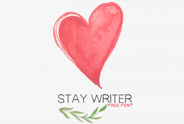 Stay Writer Free Font