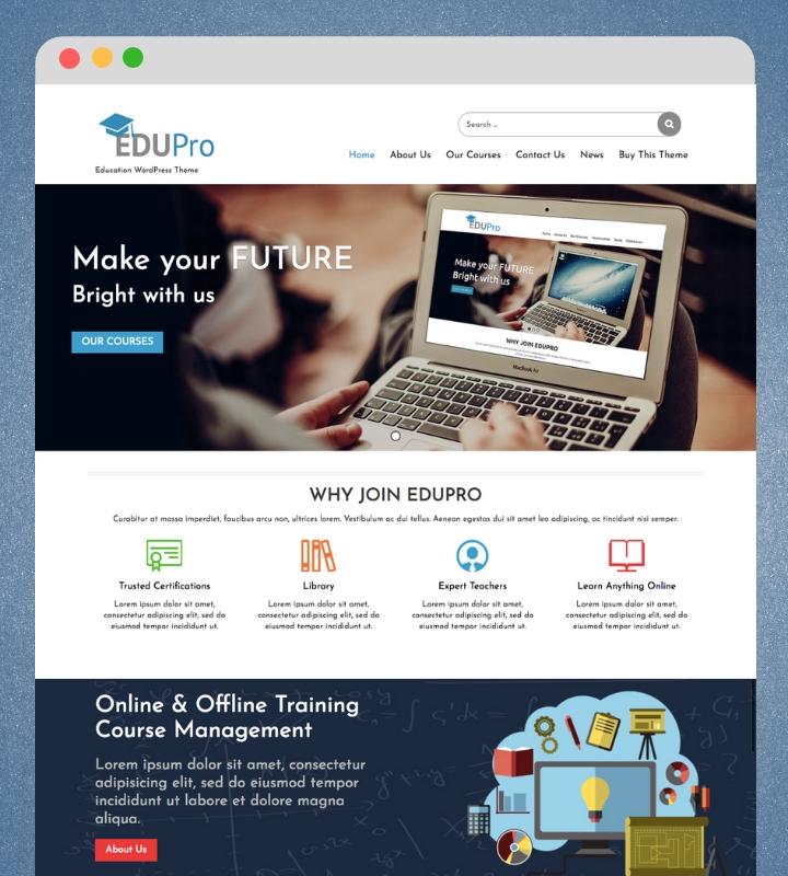 Edu Pro Single Page Business WordPress Theme