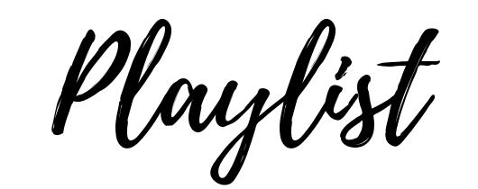 Playlist free font style