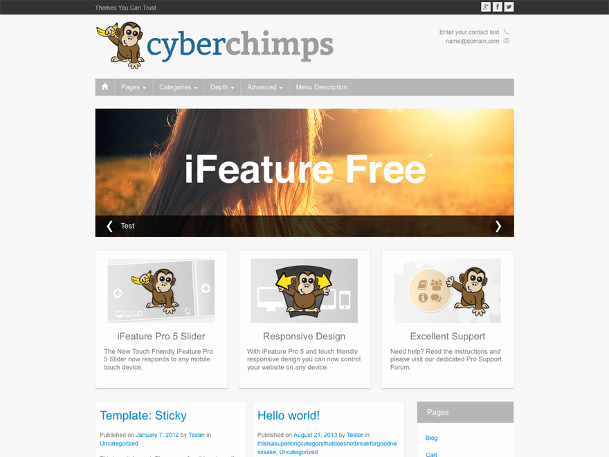 iFeature Free Theme