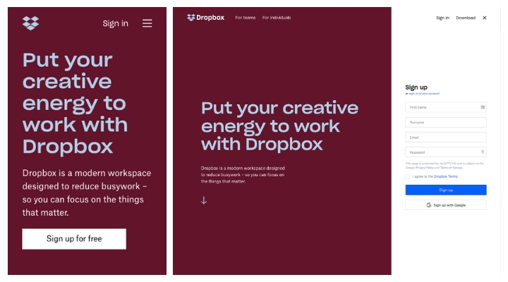 dropbox-responsive-web-design-example
