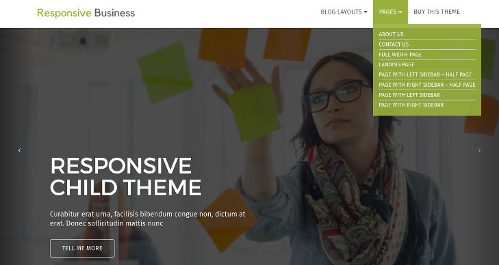 Responsive Business – Page Templates
