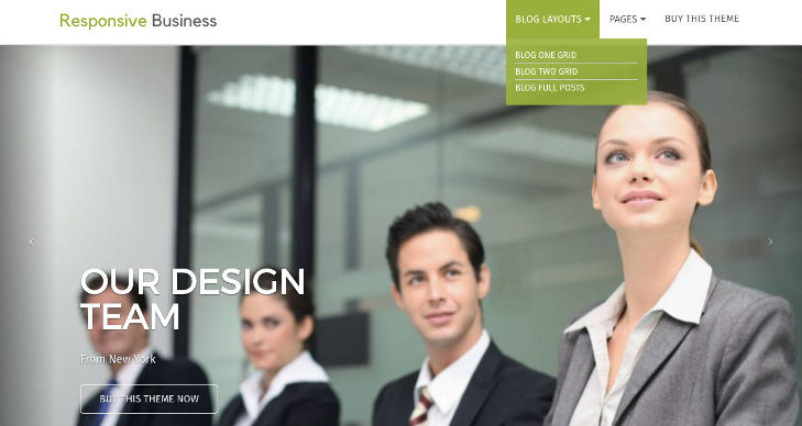 Responsive Business Theme with Blog Layouts