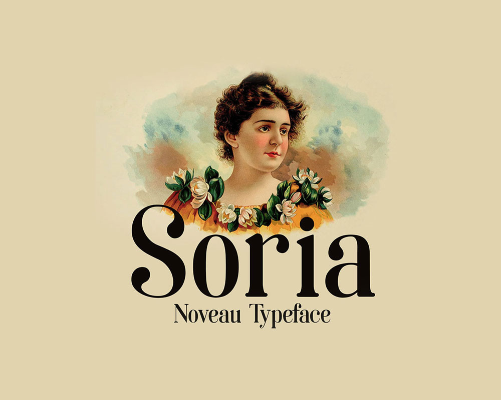 soria free font noveau typeface
