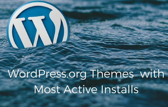 Top 25 WordPress.org Themes for your website based on Active Installs