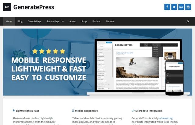 GeneratePress WordPRess