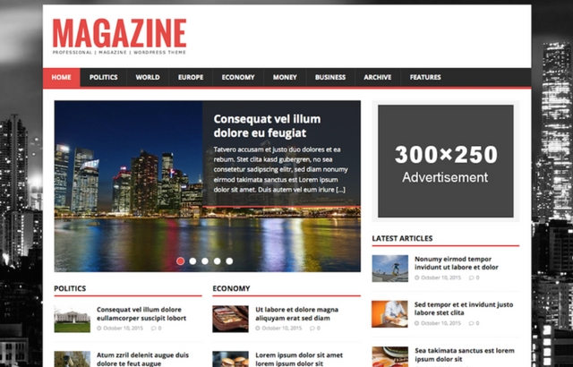 MH Magazine Lite WordPress Theme