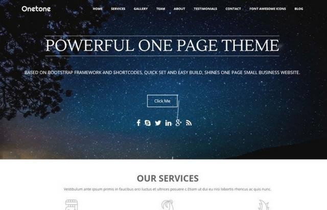 One Tone WordPress Theme