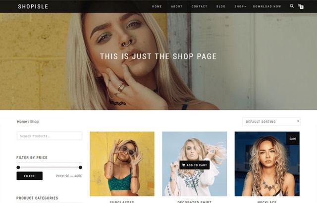 Shop Isle WordPress Theme