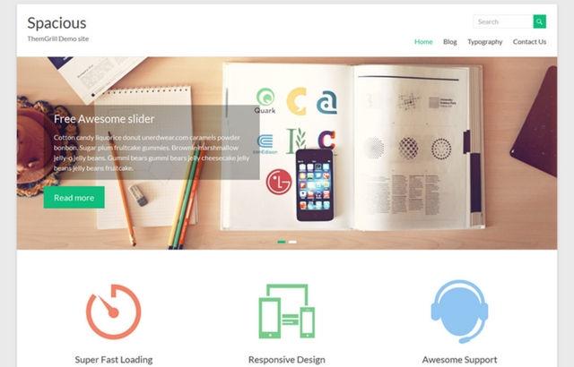 Spacious WordPress theme