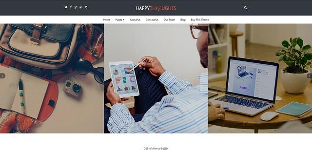 happy thoughts slider WordPress theme