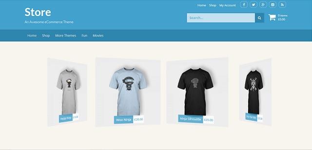 Store WordPress Theme with slider