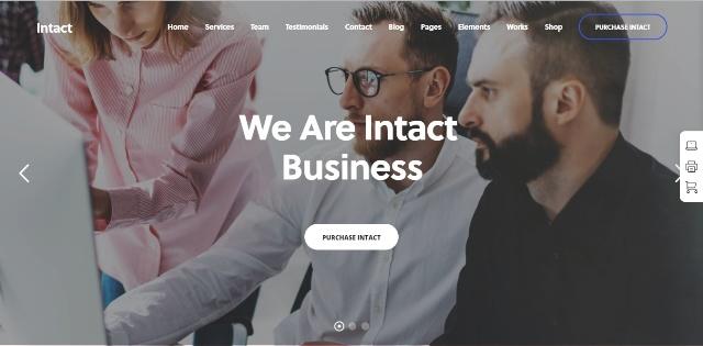 Intact award winning WordPress theme