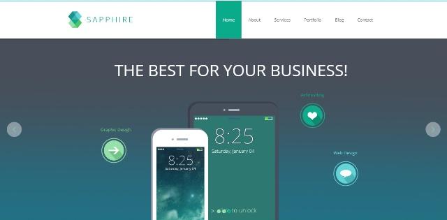 Sapphire professional WordPress theme