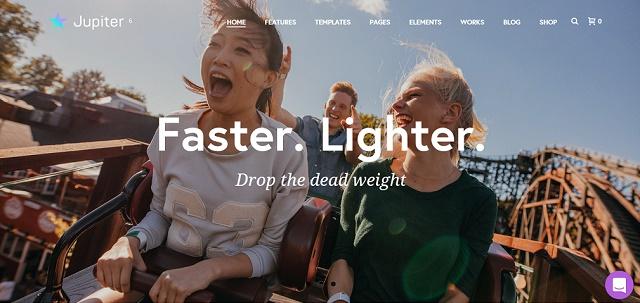 multipurpose WordPress theme with portfolio animations