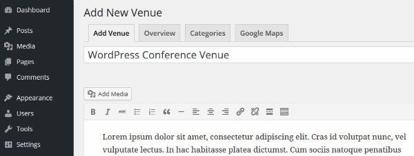 Adding Venue Details with Event Espresso