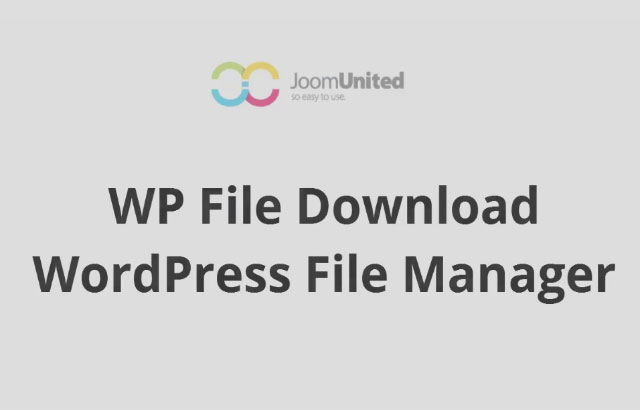 WP File Download – A powerful WordPress file manager plugin