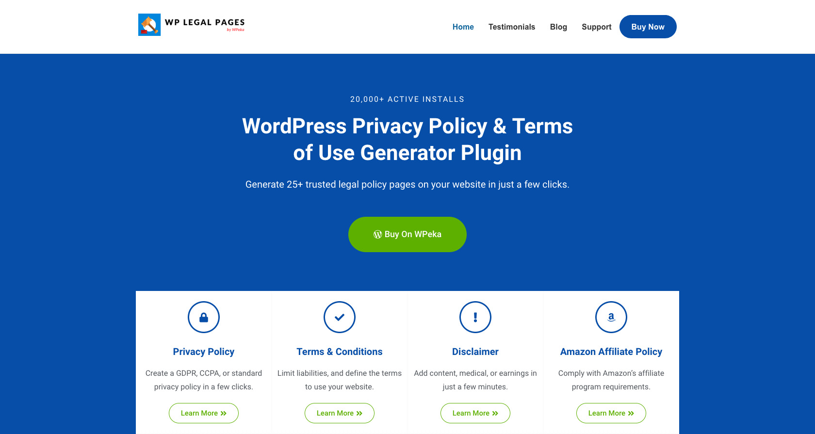 WP Legal Pages Pro- WordPress privacy policy plugin