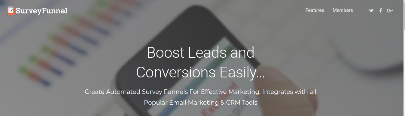 SurveyFunnel- Email Marketing & CRM Tool