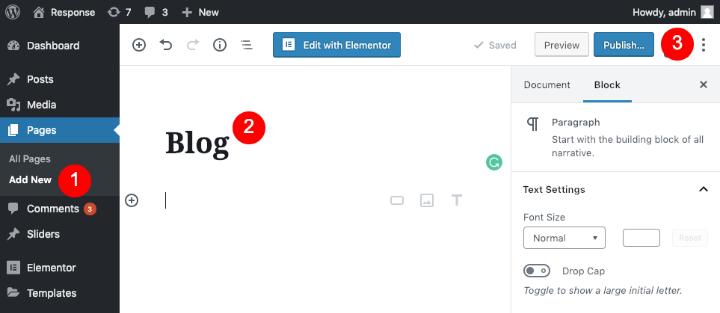 wordpress-create-static-homepage