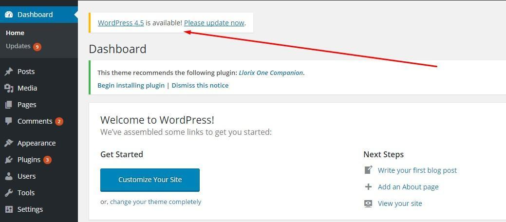 1-WordPress-Update