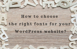 choosing WordPress fonts