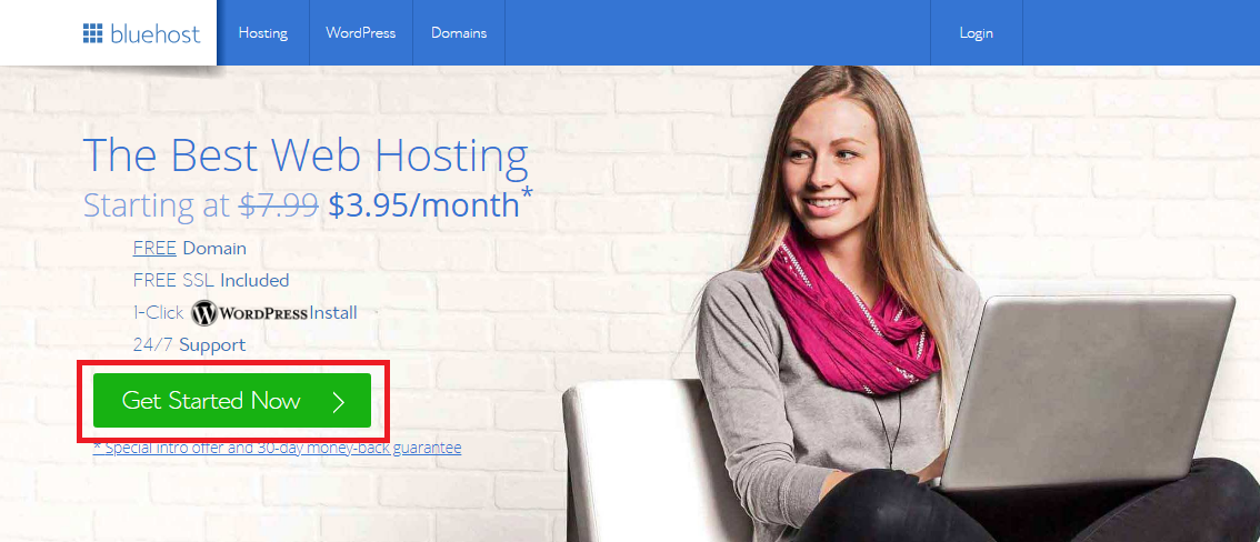 bluehost get started now
