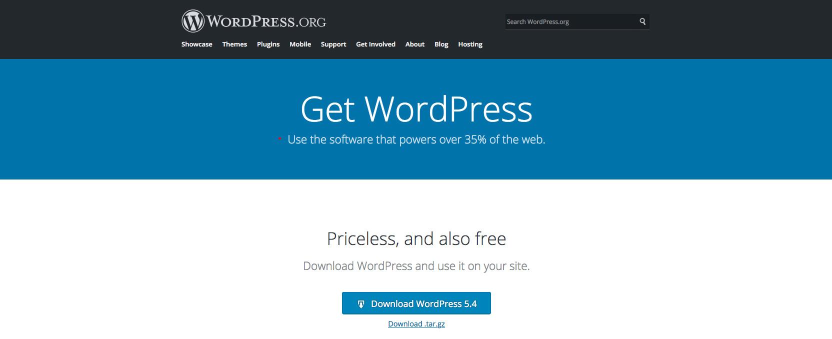 Download WordPress.org
