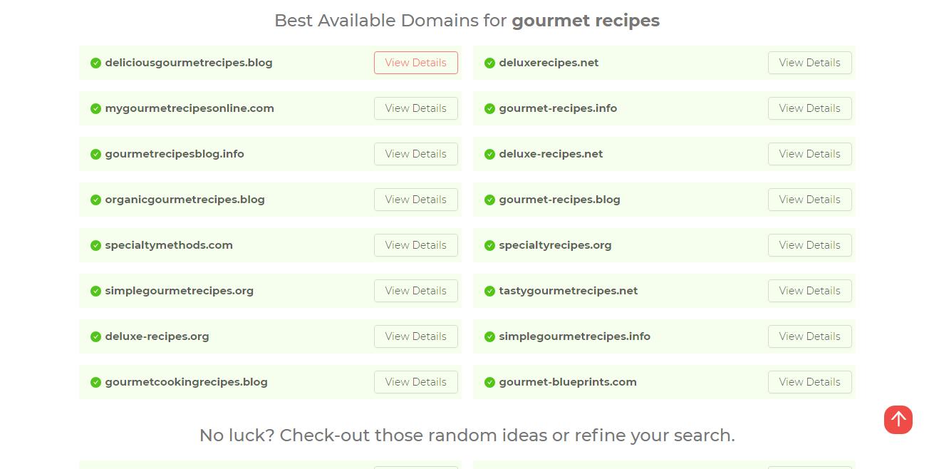 Domain Name Blog name generator