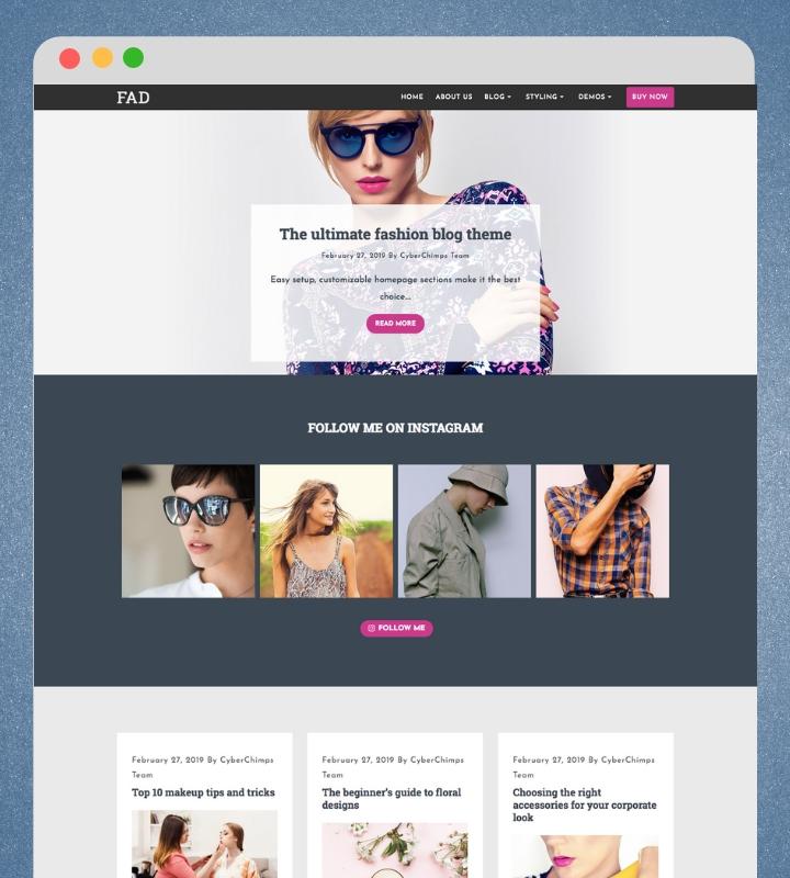 Fashion WordPress theme