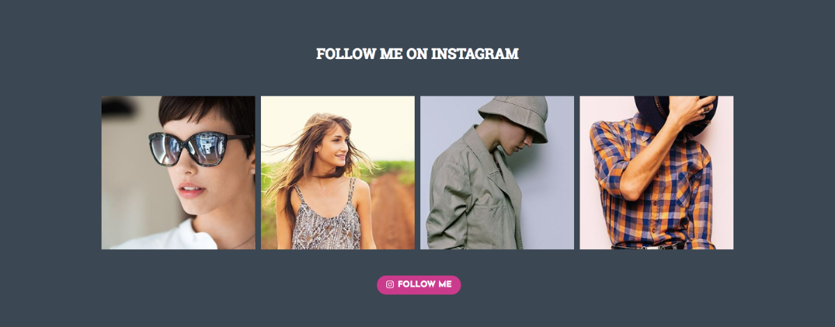 Instagram section