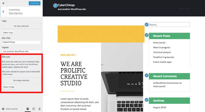 wordpress-change-logo
