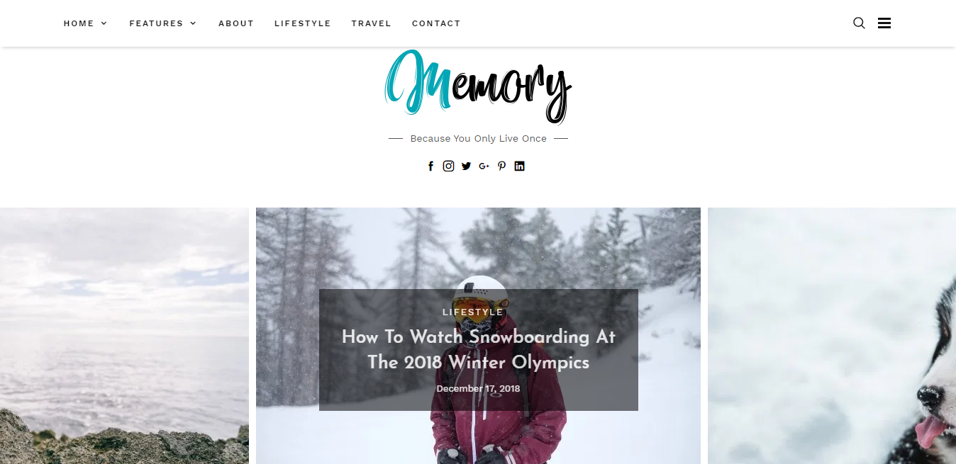 Memory- Blog theme with slider