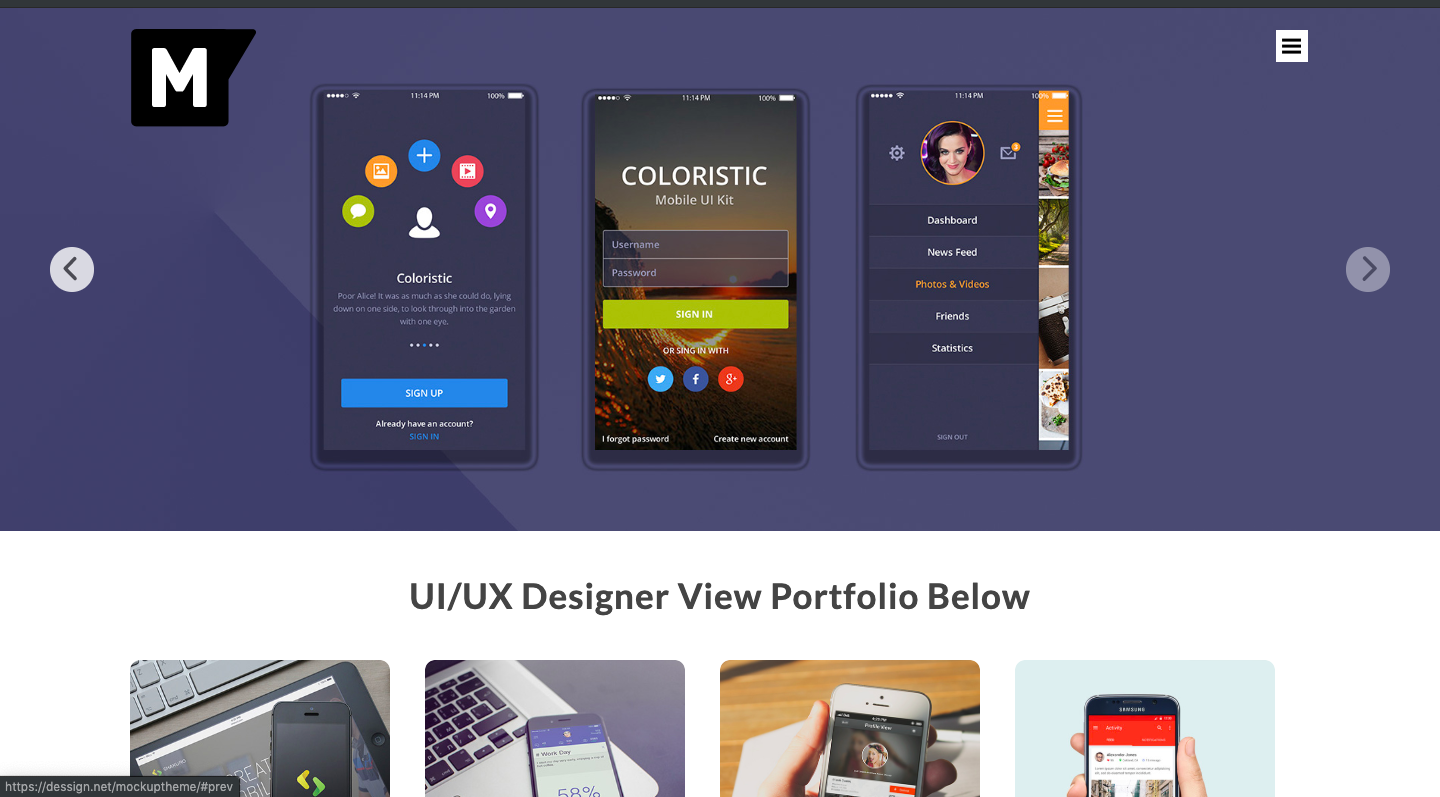 Mockup Theme- Blog theme with slider