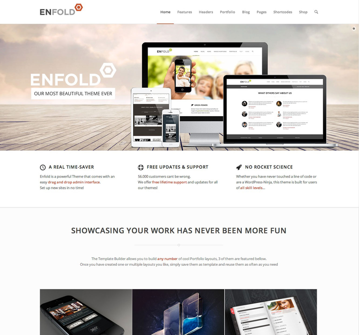 Enfold- Business theme with slider