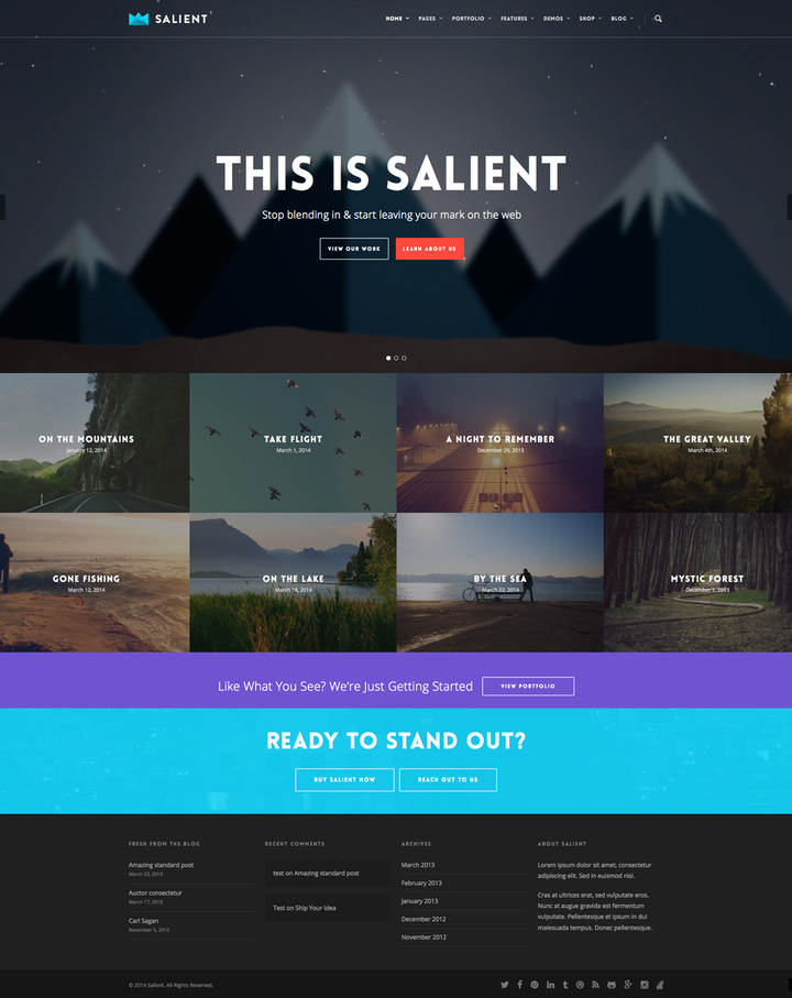 Salient- Business theme with slider