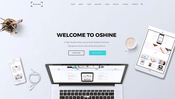 Oshine- Portfolio theme with slider