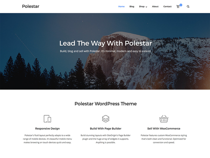 Polestar- Free WordPress theme with slider