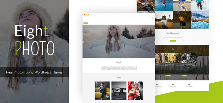 Eightphoto- Free WordPress theme with slider