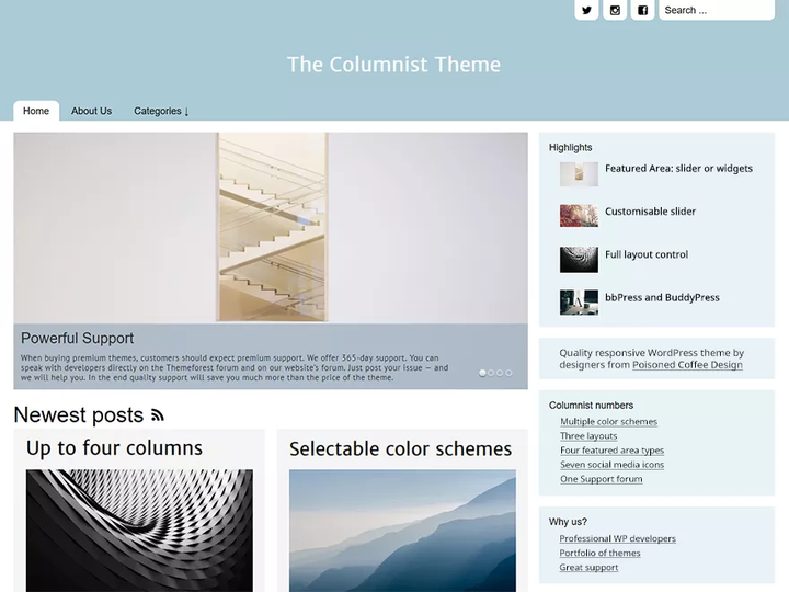 The Columnist- Blog theme with slider