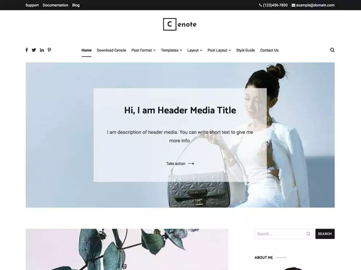 Cenote- Blog theme with slider