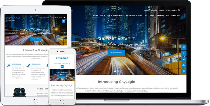Citylogic- Blog theme with slider