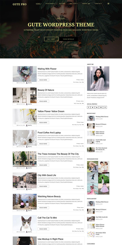 free Gutenberg WordPress theme