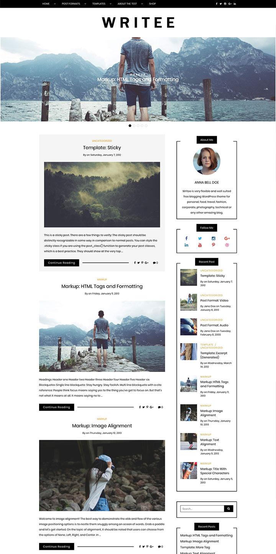 Free blogging WordPress theme