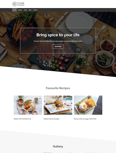 Food WordPress theme responsive