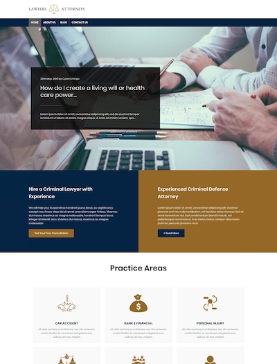 Lawyer WP theme template