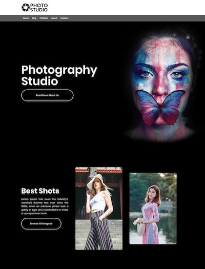 Photography studio- WordPress theme responsive